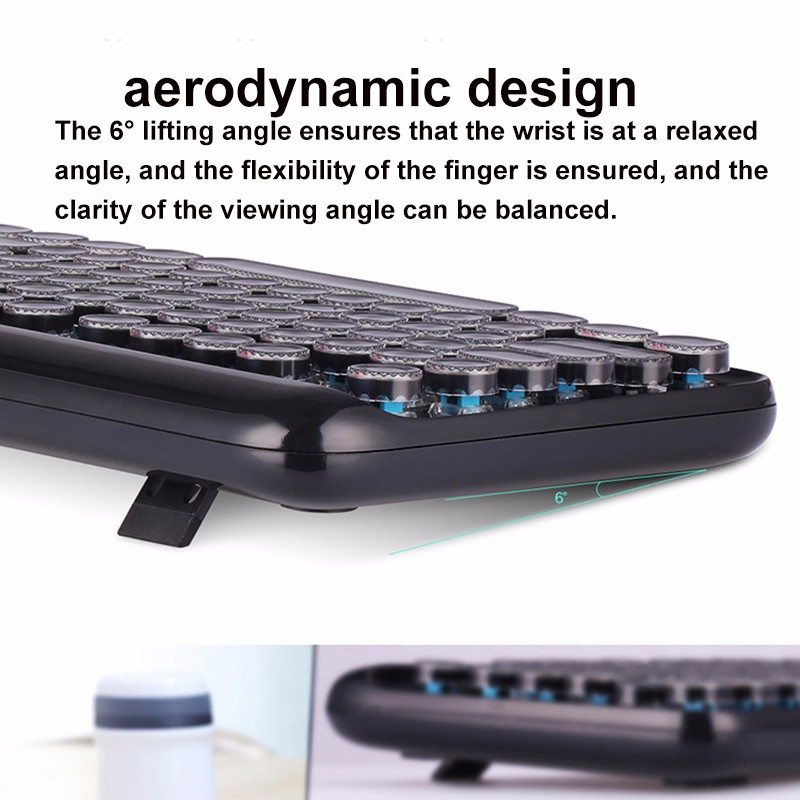 US $101 13 |NoEnName_Null Gaming Keyboard USB Wired Punk Mechanical  Keyboard Mouse Combo For Computer Laptop Games Gamer keyboard gamer-in  Keyboards