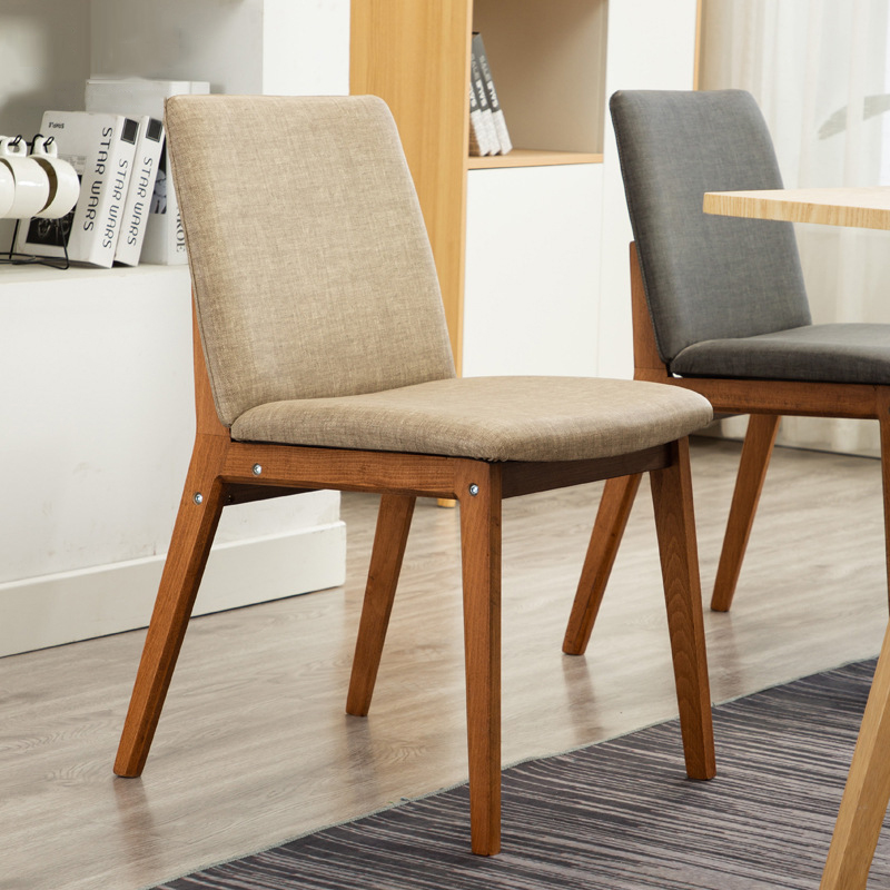 Nordic Home Furniture Minimalist Bedroom Study Chair Solid Wood Back Office Restaurant Meeting Coffee Hotel Dining Modern Chairs