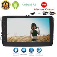 Wireless Camera Include Android 7 Touch Screen Car Stereo Autoradio Bluetooth 2 Din GPS Navigation Head