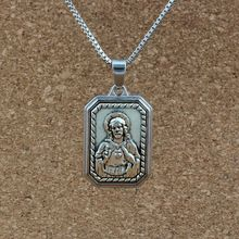 10pcs/lots white Enamel Religion Alloy charm Pendant Necklaces Jewelry DIY Antique silver 23.6 inches Chains A-435d