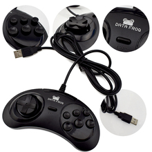 Data Frog For SEGA USB Classic Gamepad 6 Buttons USB Gaming Joystick Holder for PC MAC Mega Drive Controllers