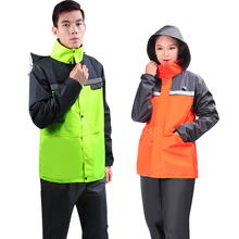 цена на Waterproof Long Rain coat Women Ladies Motorcycle Moto Windbreaker Camping raincoat women Men Pants Impermeable Rain Suit 5R049
