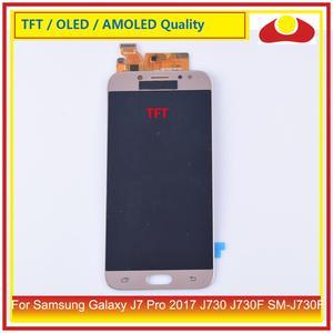 Image 4 - 50 pz/lotto DHL Per Samsung Galaxy J7 Pro 2017 J730 J730F SM J730F Display LCD Con Pannello Touch Screen Digitizer Pantalla completo