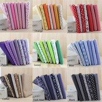 7 Pcs Pre Cut 50x50cm Cotton Fabric Baby Comfortable Patchwork Fabric DIY Pattern Textile Material Cloth