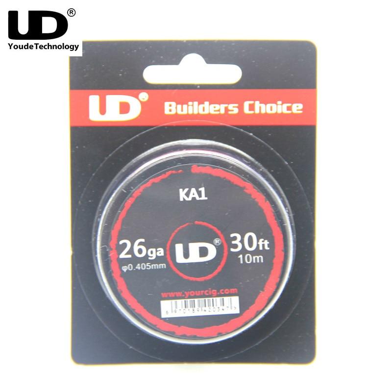 100% Original UD KA1 Wire Resistance Wire 26/28/30 AWG Gauge Heating Wires RDA RTA DIY Mechanical Atomizer Tank цена
