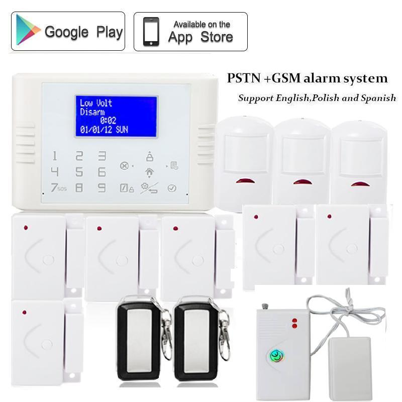 купить 433mhz/868mhz Wireless SIM card quad band pstn gsm industrial home alarm system Android IOS APP control back up battery недорого