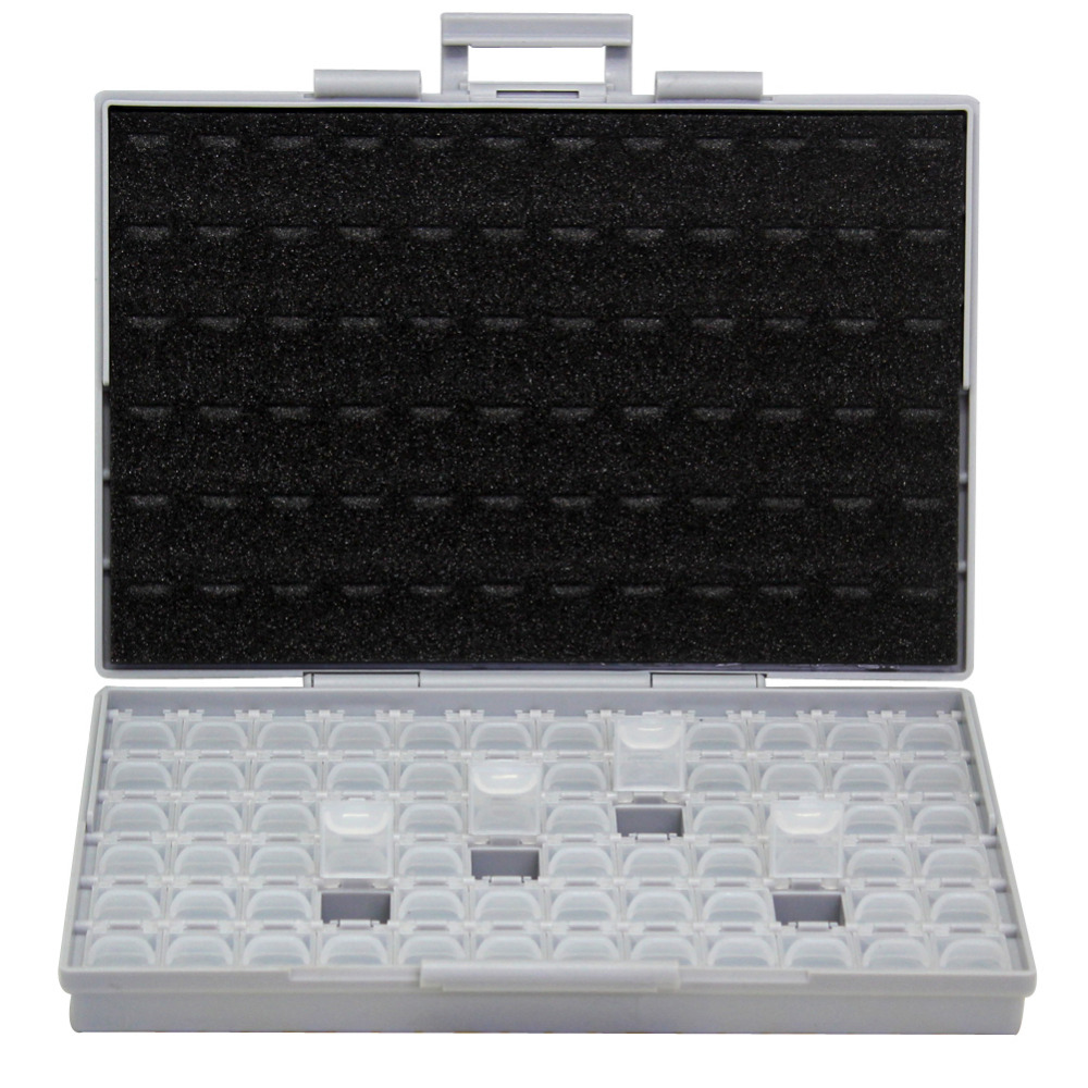 AideTek SMT Resistor smd Storage Box Enclosure 1206 0805 72 Compartments Electronics Storage Cases&Organizers plastic BOXALL72