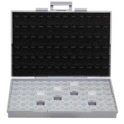 AideTek SMT resistencia smd de caja de almacenamiento caja 1206 0805 72 compartimentos electrónica de los casos y los organizadores de BOXALL72
