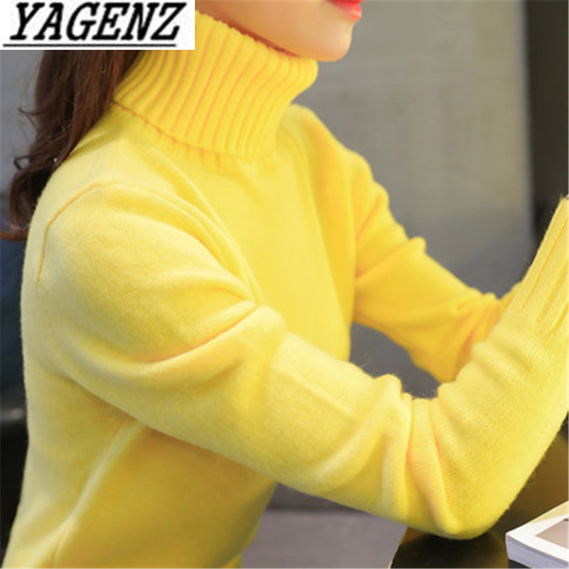 Sweater Pullover Shirt Tops Warm-Clothing Women Turtleneck Autumn Winter High-Quality