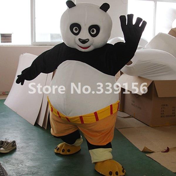 high quality adult kungfu panda mascot costume kung fu panda cartoon costume kungfu panda plush fancy - Kung Fu Panda Halloween