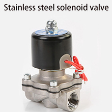 цена на 1/4 3/8 1/2 3/4 1 DN8 DN15 DN25 Stainless steel Electric Solenoid Valve 12V 24V 220V 110V Pneumatic Valve for Water Oil Gas