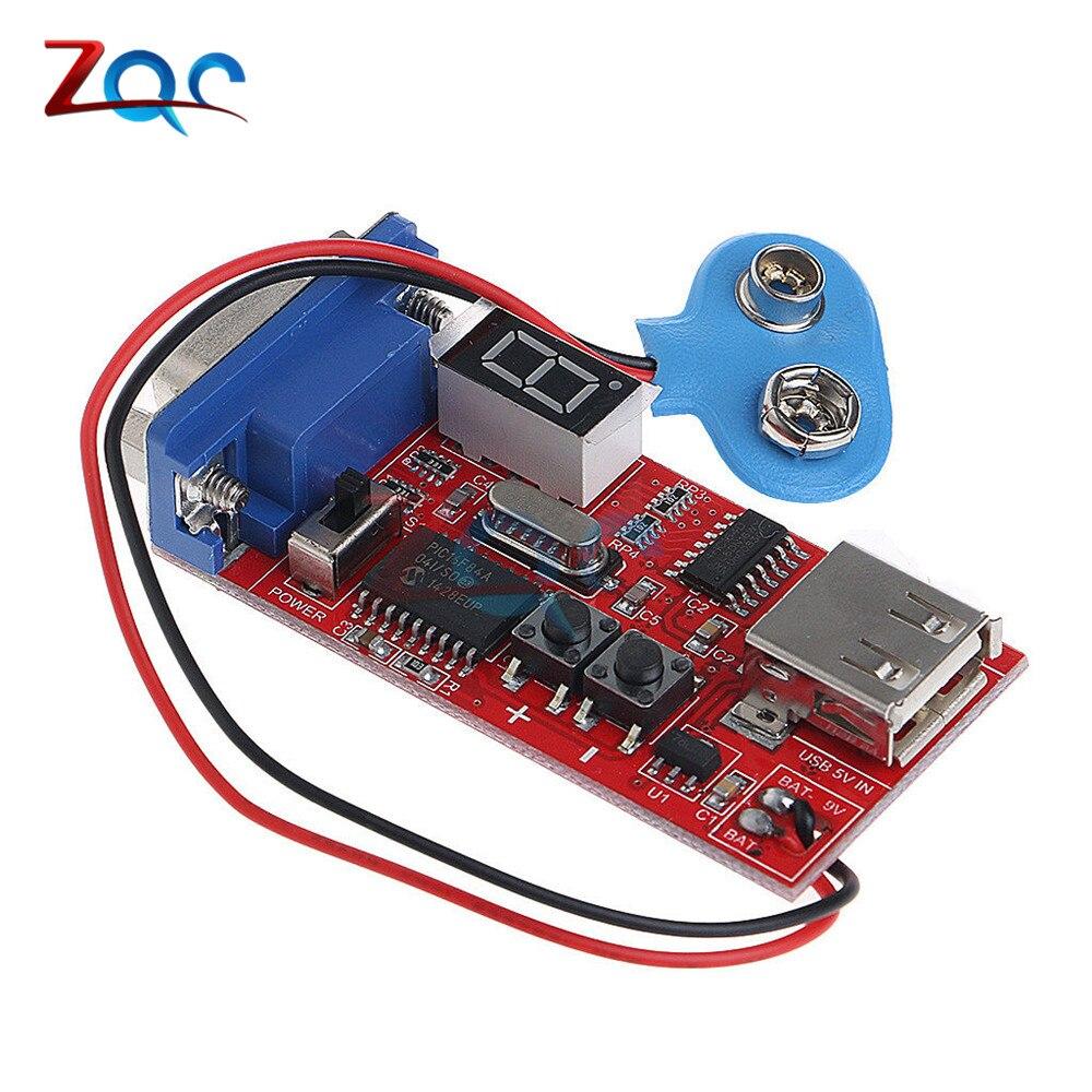 LED numérique VGA Signal générateur LCD testeur 15 différents signaux sortie USB batterie double alimentation DC 9V Module