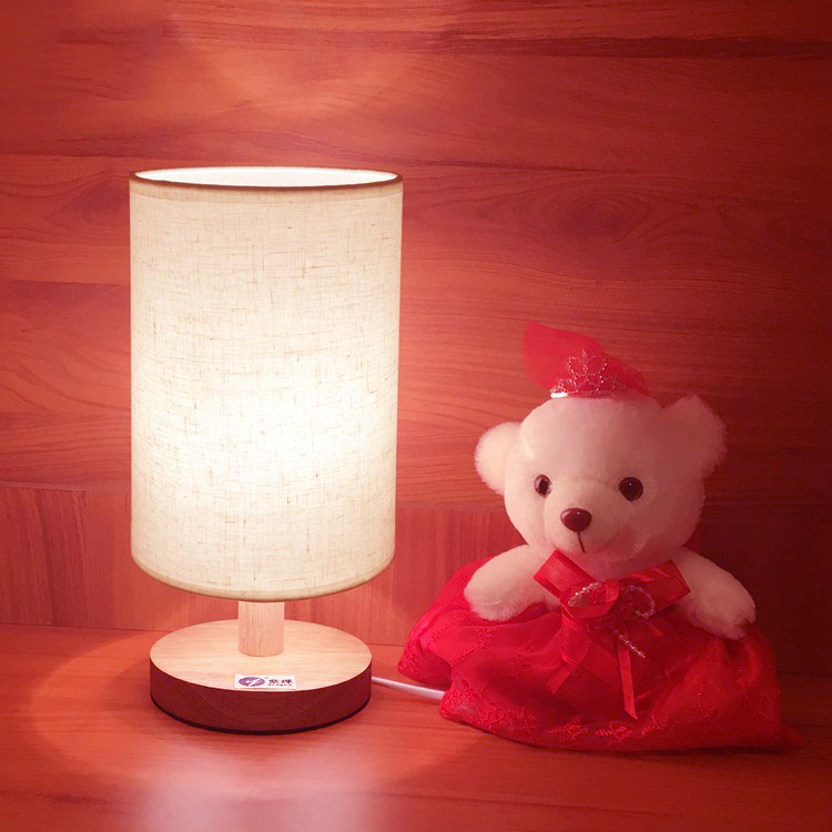 Dimmable Solid Wood Rgbw Led Magical Table Desk Lamp Night