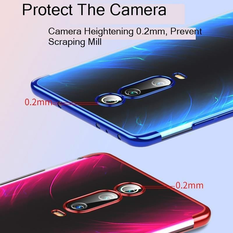 For xiaomi Redmi K20 pro case Cover Silicone shockproof Redmi K20 Transparent Clear plating Protective xiaomi mi 8 mi a2 k 20 in Phone Pouches from Cellphones Telecommunications