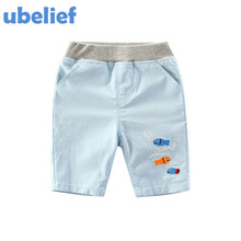 UBELIEF 2017 Kids boys Summer Sets Child Shorts Trousers Toddler Boy Shorts Baby Kids Cartoon Print Fishing Solid Pirate Shorts