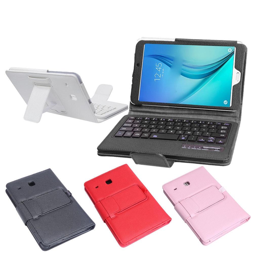 Kemile Съемный беспроводной Bluetooth клавиатура портфель кожаный чехол подставка для Samsung Galaxy Tab E 8,0 T377 планшет
