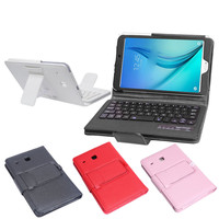 Kemile Removable Wireless Bluetooth Keyboard Portfolio Leather Stand Case Cover for Samsung Galaxy Tab E 8.0 T377 Tablet