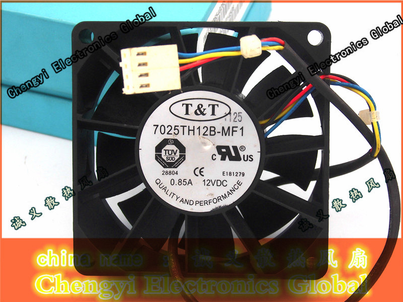 Free shipping T&T 7025TH12B-MF1 12V 0.85A 7CM 70MM 70MM*70MM*25MM PWM COOLING FAN mediox mid 7025 8gb