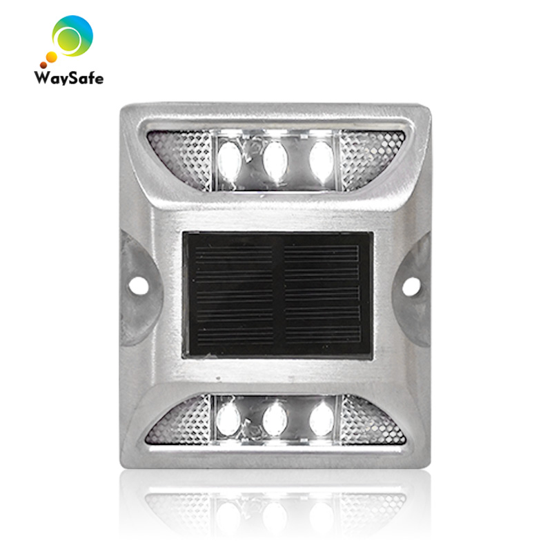 Steady Mode New Design Wholesale Price Waterproof White Reflector Aluminum Solar Power Road Stud