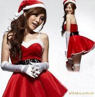 Sexy de Santa trajes Para Mulheres Uniformes Cheerleader Trajes Do Natal Cosplay Fancy Dress Lingerie Para O Sexo Tentação WL151
