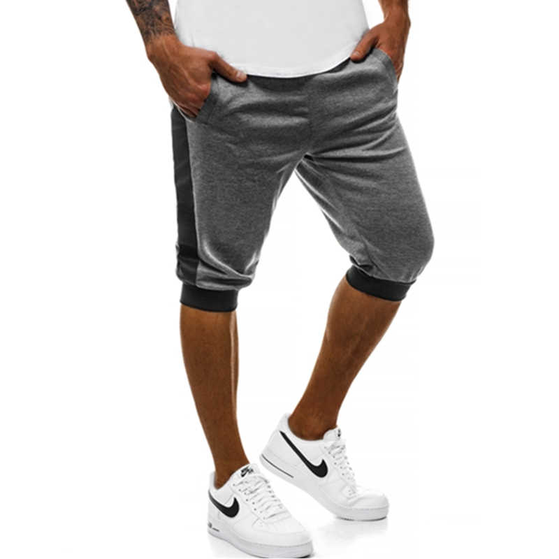 WEI HENG BRAND Summer Men's Casual Shorts Red Black Grey Yellow White Patchwork Shorts jogger And Hip hop Men Bermuda Shorts