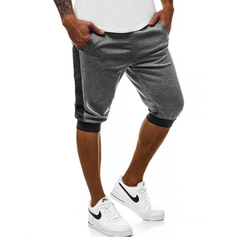 WEI HENG MARKE Sommer männer Casual Shorts Rot Schwarz Grau Gelb Weiß Patchwork Shorts jogger Und Hip hop Männer bermuda Shorts