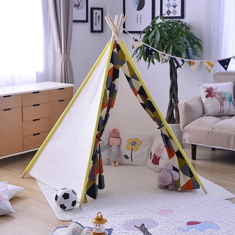 Двор домашний стиль детские игровые палатки индийский замок Playhouse закрытый для девочек/мальчиков игрушки палатки для детей детские складны