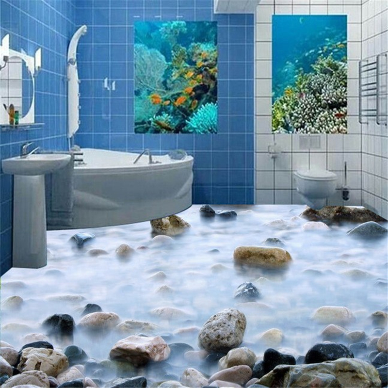 beibehang Stylish papel de parede 3d wallpaper cobblestone bathroom bedroom 3D tiles waterproof self adhesive 3d flooring tapety beibehang ocean world coral 3d flooring tile bedroom bathroom living room 3d waterproof self adhesive wallpaper papel de parede