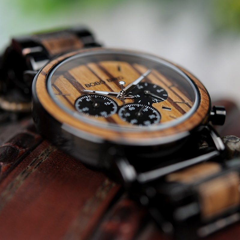 Zegarek drewniany Bobo Bird Logos 13