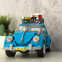 Techinc Series Compatible with Legoing The Volkswagen Beetle City Car Modle Education Building Blocks Brick Toys