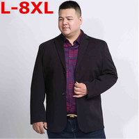 plus size 8XL 7XL New Arrival Brand Clothing Autumn Suit Blazer Men Fashion Slim Male Suits Casual Solid Color Masculine Blazer