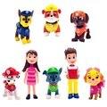 O Envio gratuito de 8 Pçs/set Crianças Brinquedos do Cão Filhote de Cachorro Novo Patrulha Figura Ação Dos Desenhos Animados Brinquedos Juguetes WJ423 Patrulla Canina