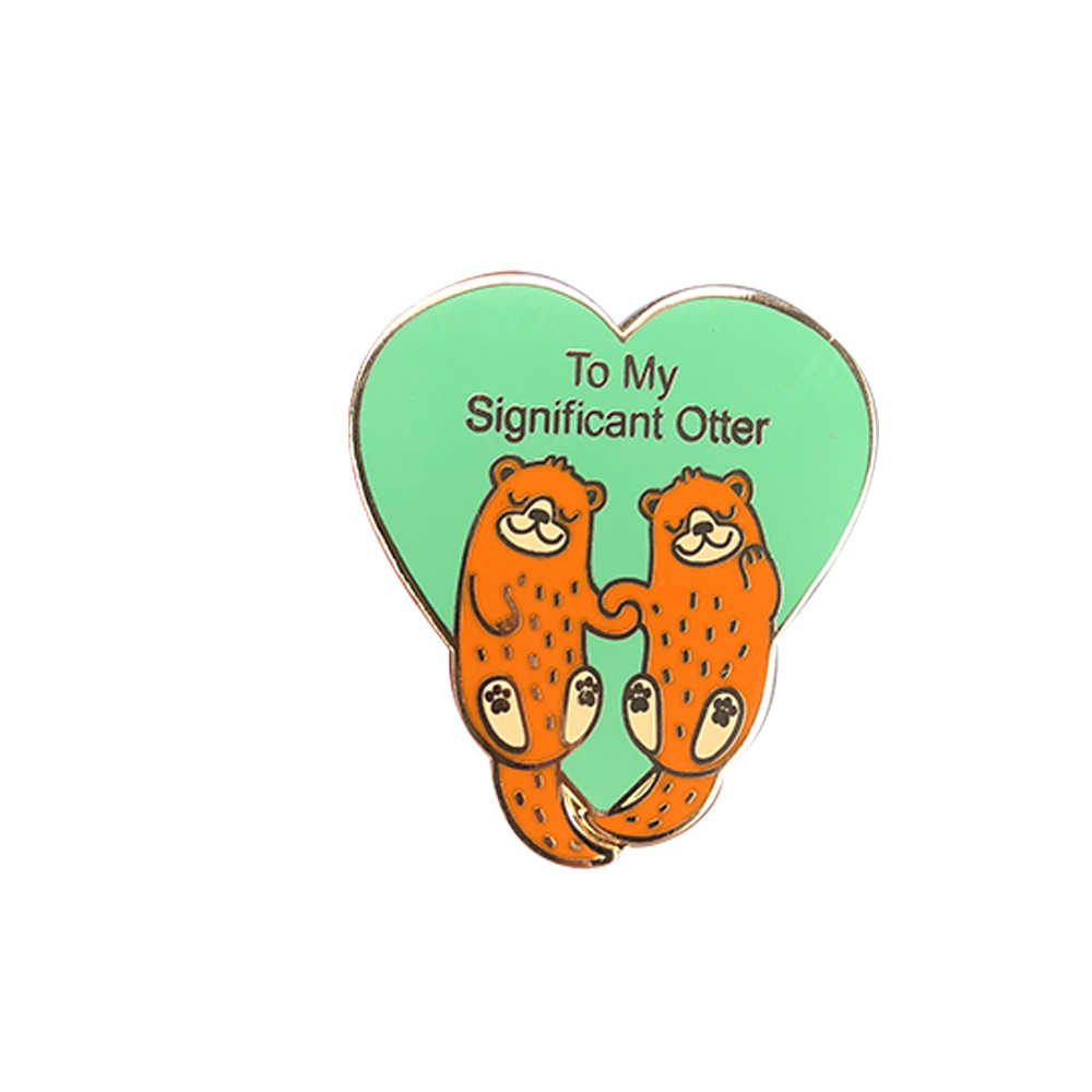 To My Significant Otter Pin Valentines day Brooch funny i love you boyfriend husband for girlfriend anniversary gift for her