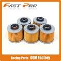 5 x limpeza do filtro de óleo para yamaha xv125 xc180 xc200 fzr250 SR250 TT250 XC250 XT250 XV250 XVS250 YD250 BW350 SR400 SR500 TT500