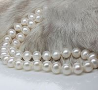 18 10 11 MM AAA +++ Akoya SOUTH SEA White Pearl Necklace 14k/20 Gold Clasp