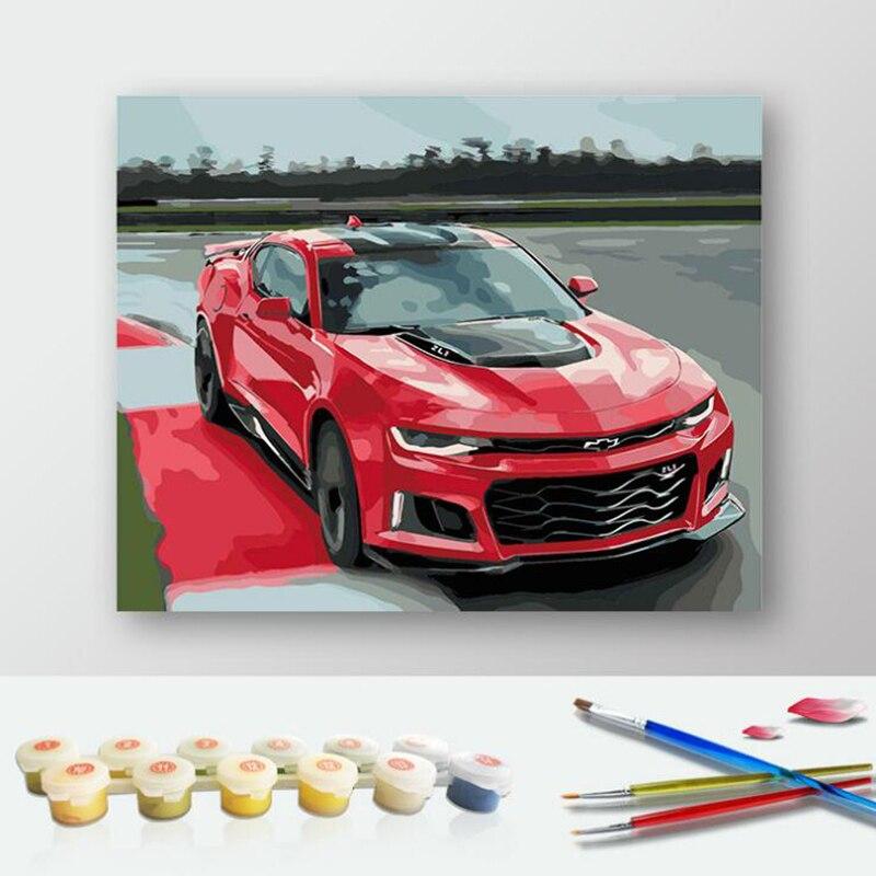 diy kits de pintura por nmeros del coche casa moderna decoracin de la pared de acrlico pintura sobre lienzo pintado a mano re