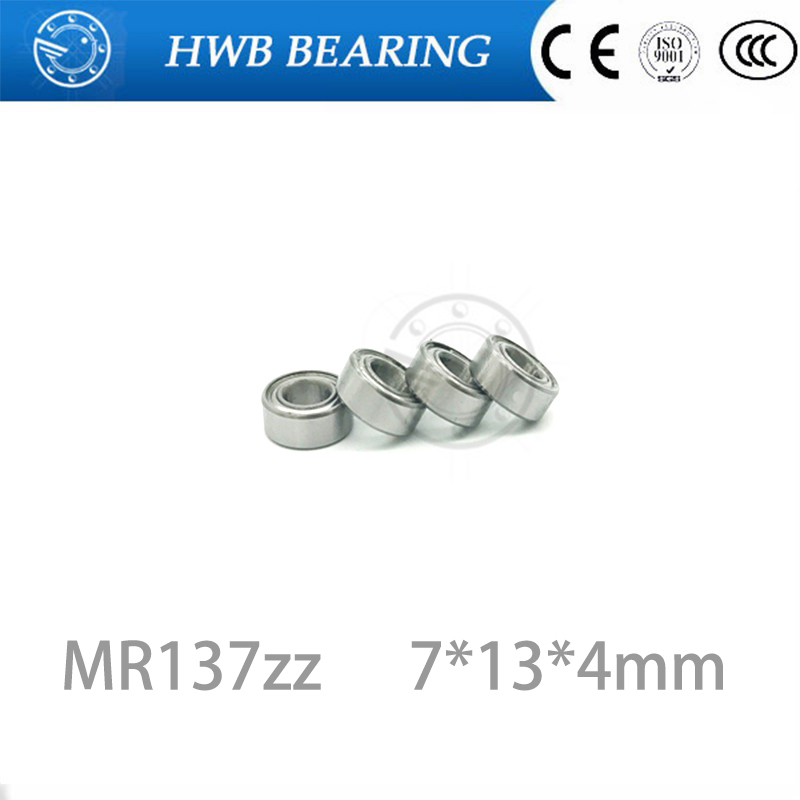 MR137ZZ 10 PCS Metal Double Shielded Ball Bearing 7*13*4 7x13x4 mm