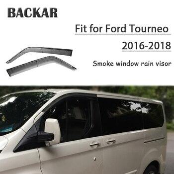 Backar 4pcs Auto Car Windows Rain Wind Sun Shield Deflector Visor Trim For Ford Tourneo 2016 2017 2018 Accessories All Weather