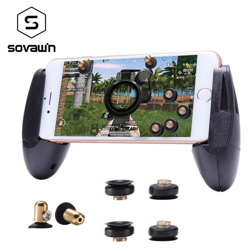 Mini Gamepad Pubg Mobile Controller Metal Pubg Trigger Button Gaming Joystick for Phone l1r1 for iPhone X Fire Button Aim Key