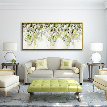 Hand Painted Oil Painting  Flower Canvas wall art canvas Pictures for living room home decor cuadros decoracion 11