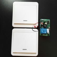 433 315 переключатель с дистанционным управлением, AC 110V 220V 240V 85 V-260 V Светодиодная лампа, беспроводные переключатели для коридора, комнаты, настенная панель, переключатель