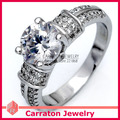 Carraton RSQD1074 Heart and Arrow CZ Diamond Luxurious Solid 925 Sterling Silver Jewellery Ring