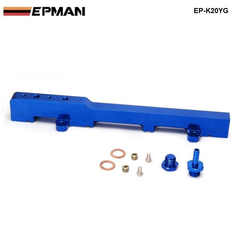 Für Honda K-Serie K20 DC5 EP3 Jdm Rennen Billet Aluminium High Flow Kraftstoffverteilerrohr Assembly Blau EP-K20YG