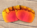 Fire Red Mirror Polarized Replacement Lenses For Dispatch 1 Sunglasses Frame 100% UVA & UVB Protection