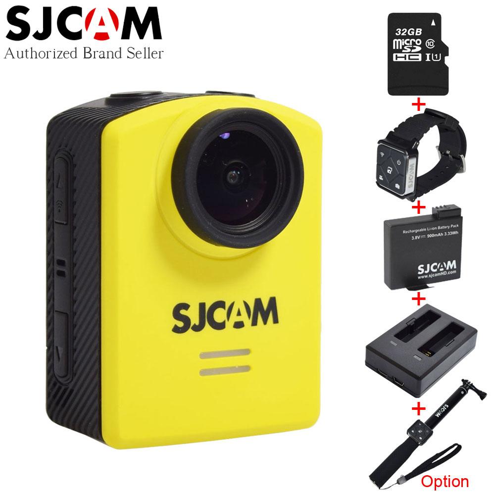 Prix pour D'origine SJCAM M20 4 K 24fps Wifi D'action Caméra Gyro Étanche 30 M Mini Sport Caméscope avec Batterie Supplémentaire À Distance manfrotto Option