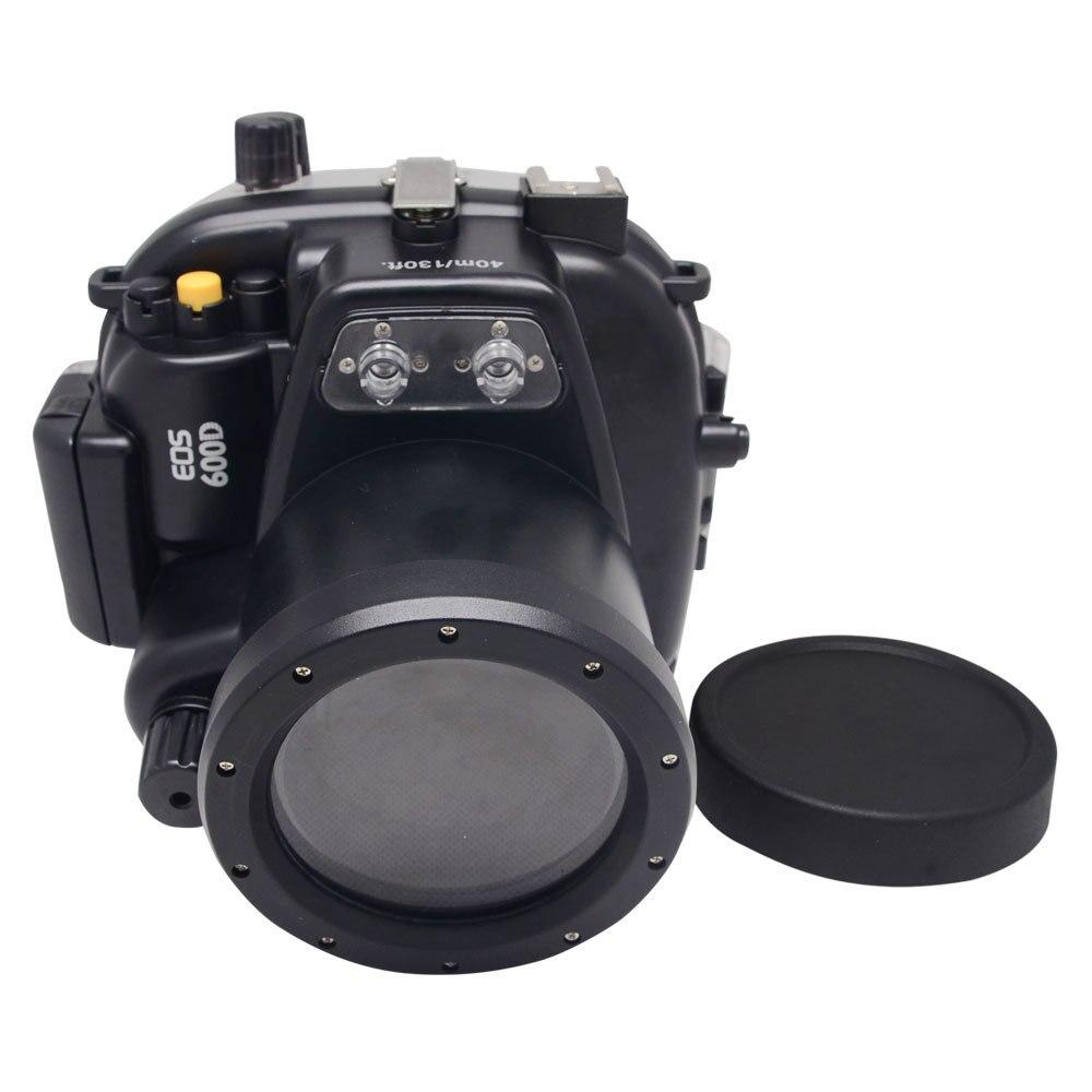 Boîtier étanche sous-marin Mcoplus 40 m/130ft pour objectif Canon EOS 600D/rebelle T3i 55mm