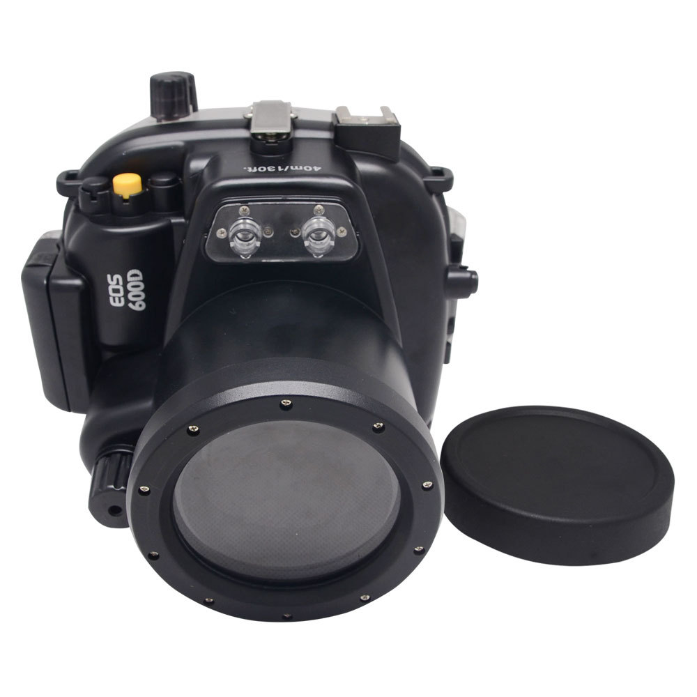 Mcoplus 40m/130ft Underwater Waterproof Housing Case for Canon EOS 600D/Rebel T3i 55mm Lens image
