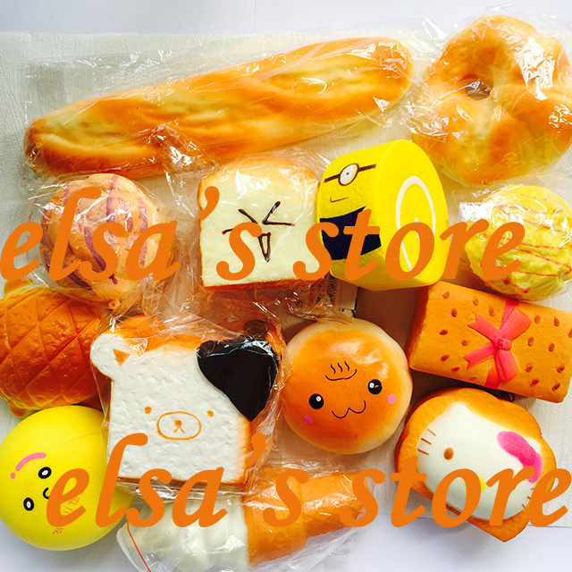 Squishies Jumbo Lot 8pcs Mixed Kawaii Rare Iceream Bread Toast Squishy Slow  Rising Hand Pillow Toys Home Decor Free Shipping In Mobile Phone Straps  From ...