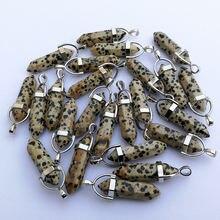 Модные круглые подвески и ожерелья из натурального камня с кристаллами