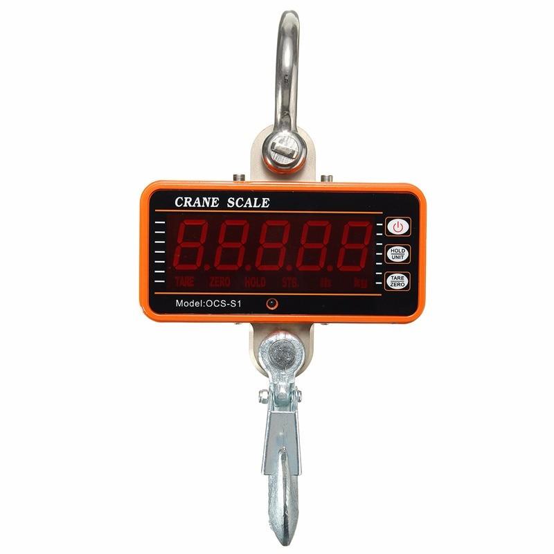 все цены на 1Pcs Crane Hook Scale Digital 1000KG 2000LBS LCD Crane Scale High Precision Heavy Duty онлайн